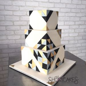 Geometric Black and Gold