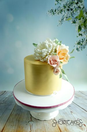 Gold Sugar Flowers