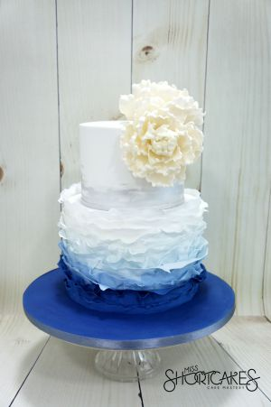 Ombre Blue Rffle