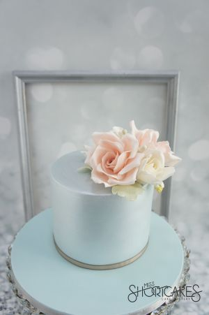 Blue Lustre and Pink Roses